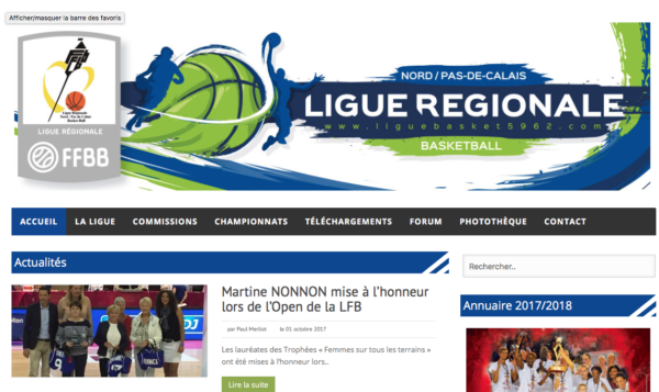 logo Ligue Nord Pas de Calais basket-ball