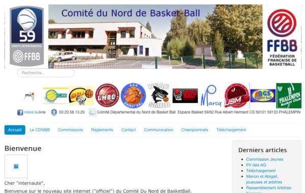 logo Comité départemental du Nord de Basket Ball